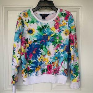 •Ralph Lauren Polo•Floral Sweatshirt-Size L(12/14)